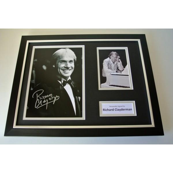 Richard Clayderman SIGNED FRAMED Photo Autograph 16x12 display Piano Music & COA