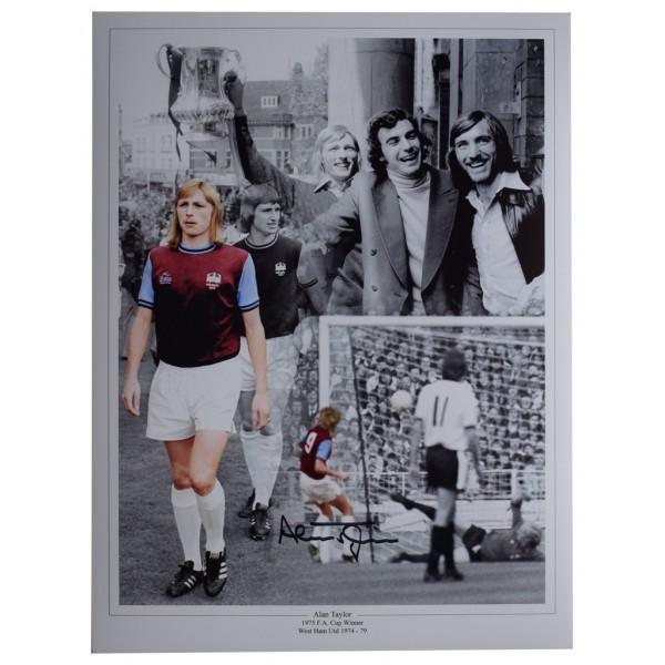 Alan Taylor SIGNED autograph 16x12 HUGE photo West Ham Football  AFTAL  COA Memorabilia PERFECT GIFT