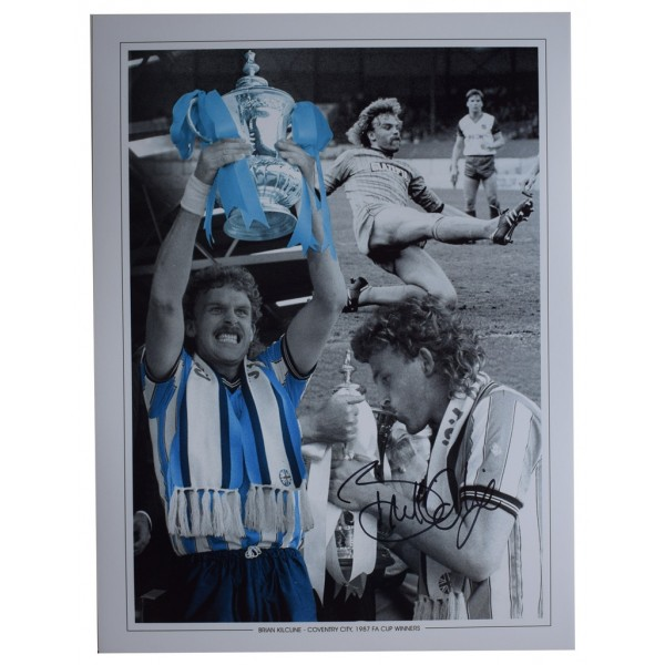 Brian Kilcline SIGNED autograph 16x12 HUGE photo Coventry City Football   AFTAL  COA Memorabilia PERFECT GIFT