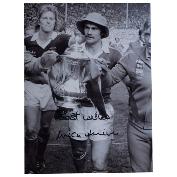 Mick Mills SIGNED autograph 16x12 HUGE photo Ipswich Town Football   AFTAL  COA Memorabilia PERFECT GIFT