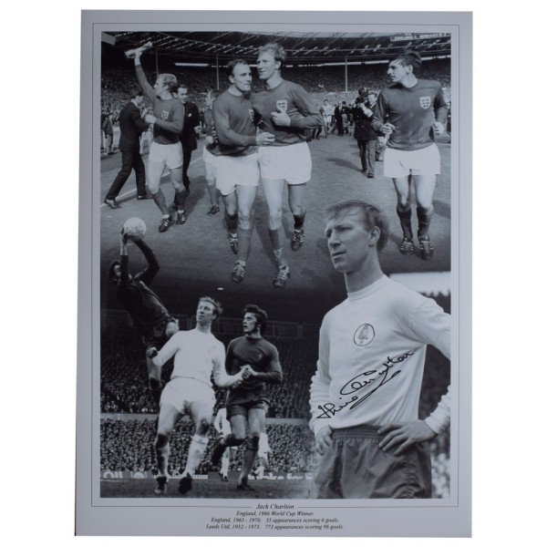 Jack Charlton SIGNED autograph 16x12 HUGE photo England World Cup 1966  AFTAL  COA Memorabilia PERFECT GIFT