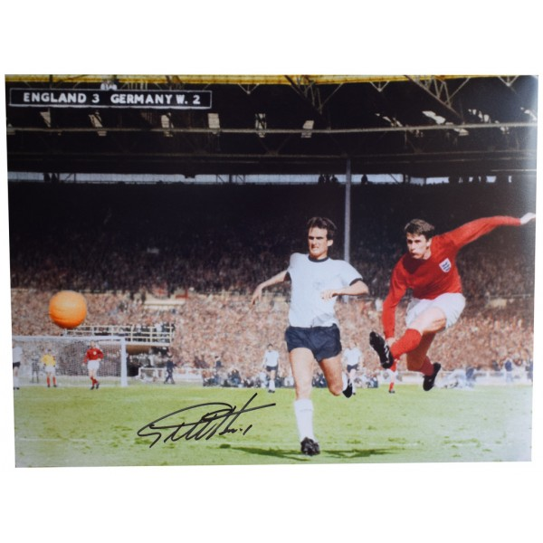 Geoff Hurst SIGNED autograph 16x12 HUGE photo England World Cup 1966 AFTAL  COA Memorabilia PERFECT GIFT