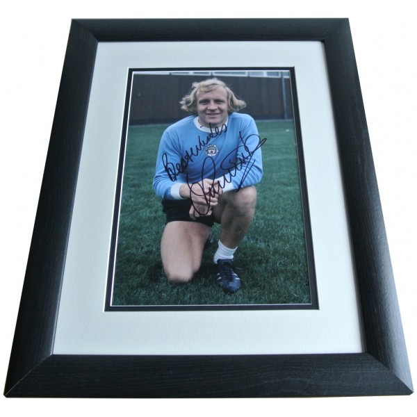 Francis Lee SIGNED FRAMED Photo Autograph 16x12 LARGE display Manchester City PERFECT GIFT