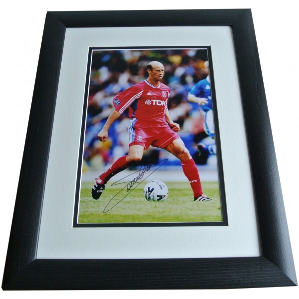 Attilio Lombardo SIGNED FRAMED Photo Autograph 16x12 Huge display Crystal Palace PERFECT GIFT