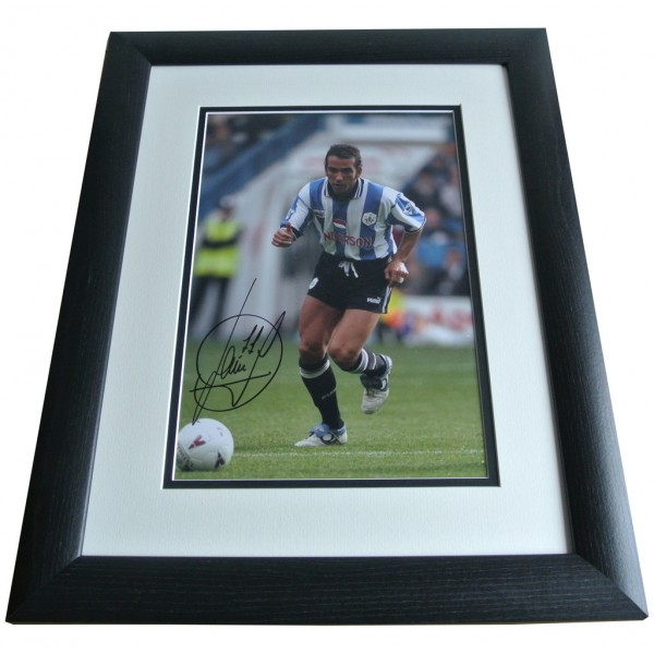 Paolo Di Canio SIGNED FRAMED Photo Autograph 16x12 Huge display Sheffield & COA PERFECT GIFT