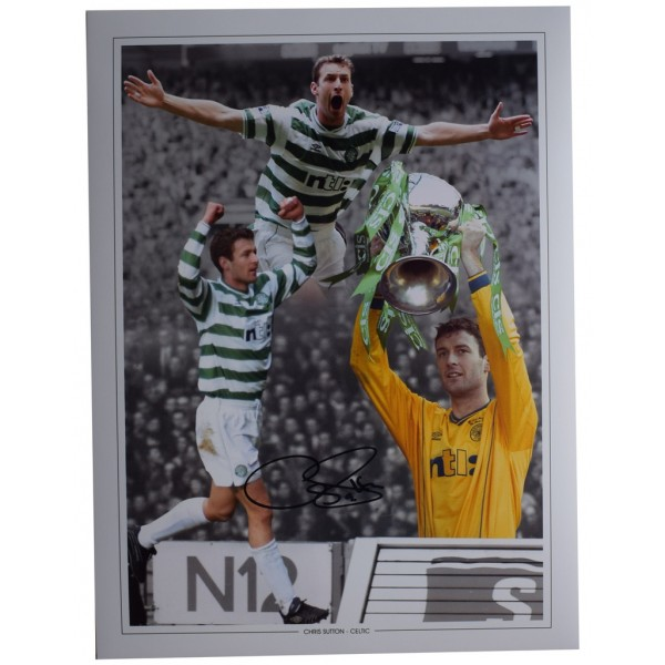 Chris Sutton SIGNED autograph 16x12 HUGE photo Celtic Football Sport     AFTAL  COA Memorabilia PERFECT GIFT