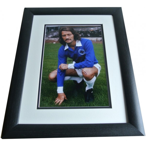 Frank Worthington SIGNED FRAMED Photo Autograph 16x12 Huge display Leicester City COA  PERFECT GIFT