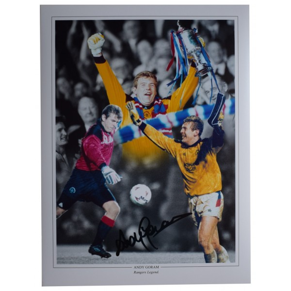 Andy Goram SIGNED autograph 16x12 HUGE photo Glasgow Rangers Football  AFTAL  COA Memorabilia PERFECT GIFT