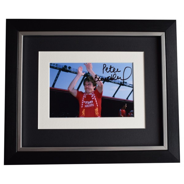 Peter Beardsley SIGNED 10x8 FRAMED Photo Autograph Display Liverpool AFTAL COA Memorabilia PERFECT GIFT