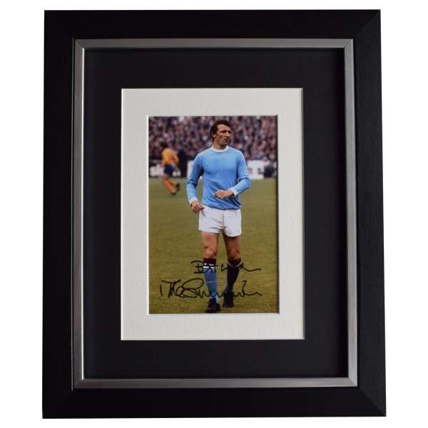 Mike Summerbee SIGNED 10x8 FRAMED Photo Autograph Display Manchester City  AFTAL  COA Memorabilia PERFECT GIFT