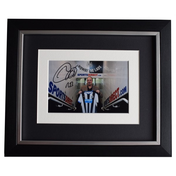 Rafa Benitez SIGNED 10x8 FRAMED Photo Autograph Display Newcastle United   AFTAL  COA Memorabilia PERFECT GIFT