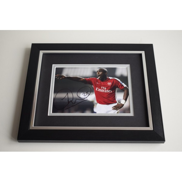 Sol Campbell SIGNED 10X8 FRAMED Photo Autograph Display Arsenal  AFTAL & COA Memorabilia PERFECT GIFT