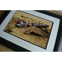 Jessica Ennis SIGNED FRAMED Photo Autograph 16x12 Huge display Heptathlon & COA PERFECT GIFT
