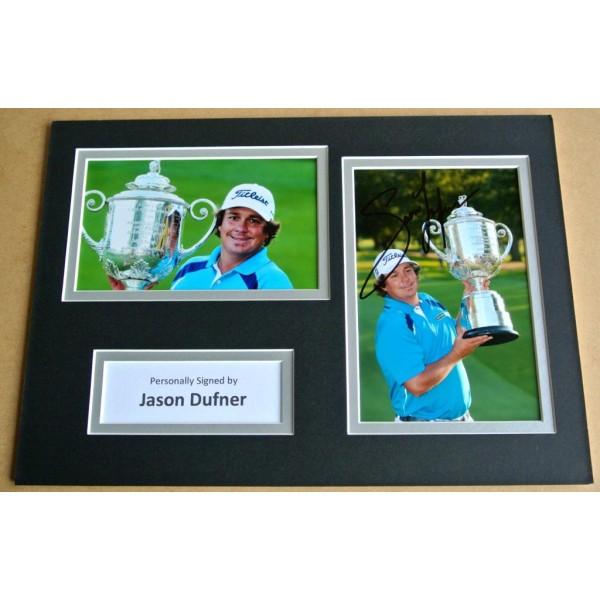 JASON DUFNER SIGNED A4 Photo Mount Autograph Display GOLF Open COA  AFTAL SPORT Memorabilia PERFECT GIFT