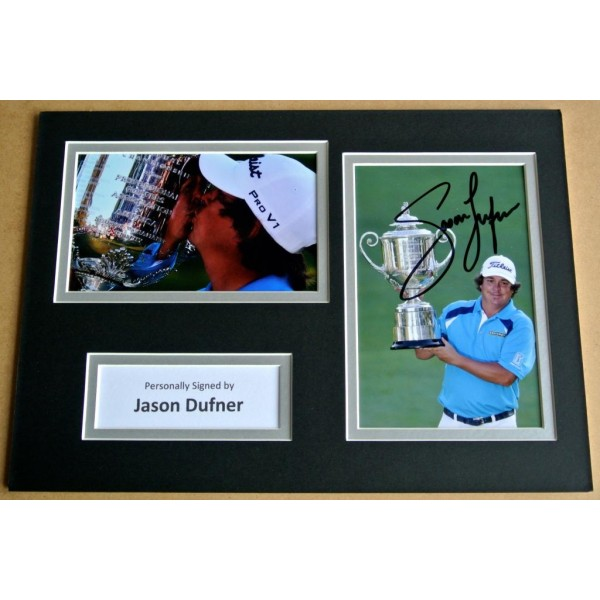 JASON DUFNER SIGNED A4 Photo Mount Autograph Display GOLF Open   AFTAL &  COA Memorabilia