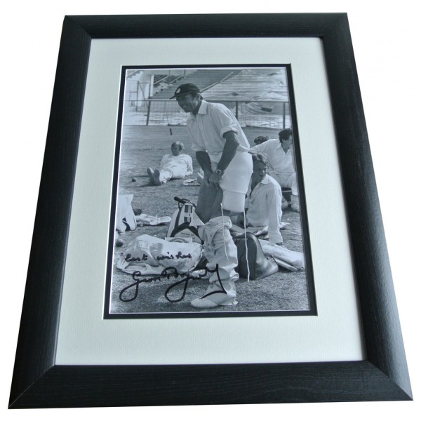 Geoff Boycott SIGNED FRAMED Photo Autograph 16x12 Huge display Cricket COA & AFTAL Memorabilia PERFECT GIFT