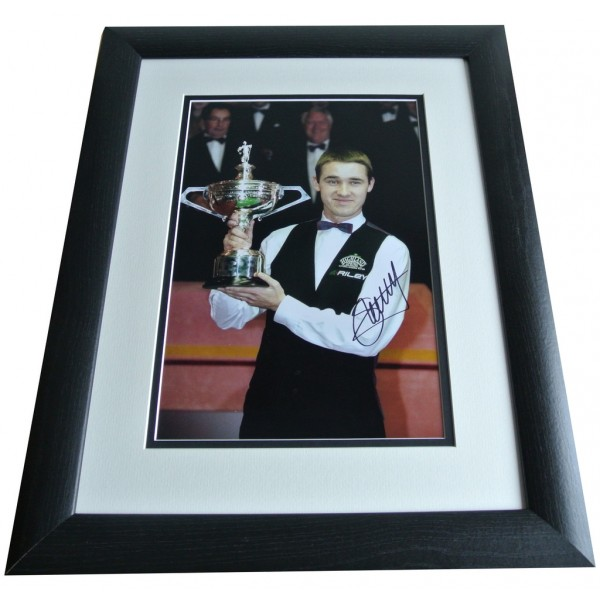 Stephen Hendry SIGNED FRAMED Photo Autograph 16x12 Huge display Snooker & COA PERFECT GIFT