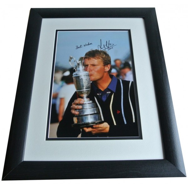 Sandy Lyle SIGNED FRAMED Photo Autograph 16x12 Huge display Golf AFTAL & COA PERFECT GIFT