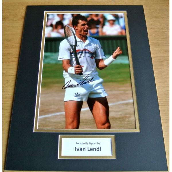 IVAN LENDL hand SIGNED autograph 16x12 photo mount display TENNIS Champion & COA PERFECT GIFT
