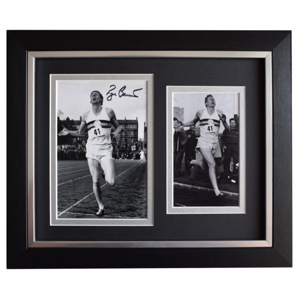 Roger Bannister SIGNED 10x8 FRAMED Photo Autograph Display 4 Minute Mile AFTAL  COA Memorabilia PERFECT GIFT