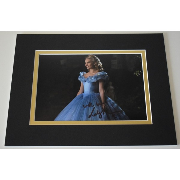 Lily James Signed Autograph 10x8 photo display Cinderella Film     AFTAL & COA Memorabilia PERFECT GIFT