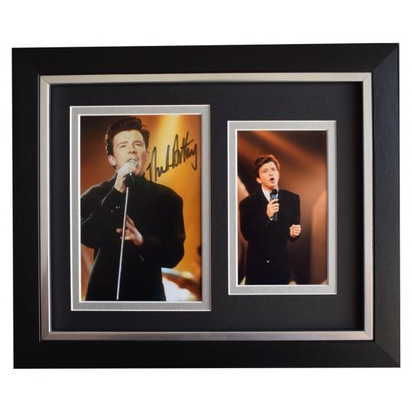 Rick Astley SIGNED 10x8 FRAMED Photo Autograph Display Music  AFTAL  COA Memorabilia PERFECT GIFT