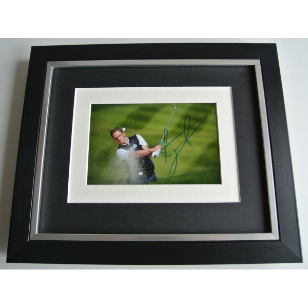 Luke Donald SIGNED 10x8 FRAMED Photo mount Autograph Display Golf AFTAL & COA     PERFECT GIFT