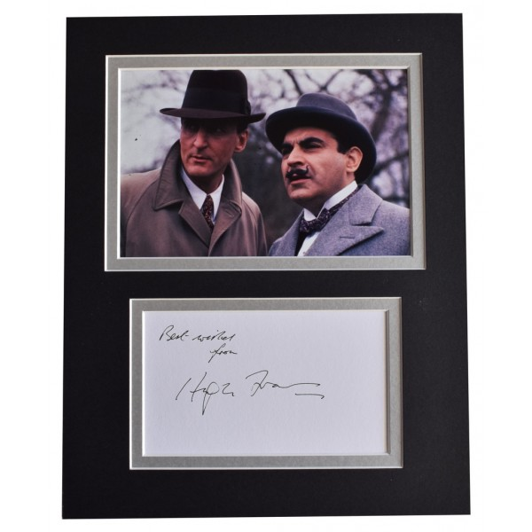 Hugh Fraser Signed Autograph 10x8 photo display TV Poirot   AFTAL  COA Memorabilia PERFECT GIFT