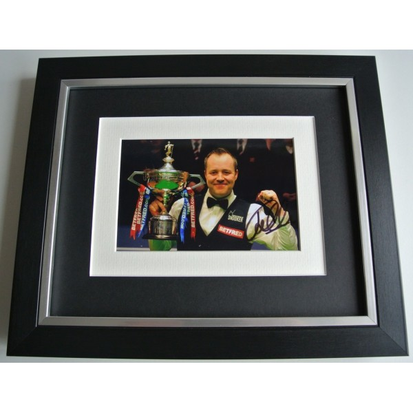 John Higgins SIGNED 10x8 FRAMED Photo mount Autograph Display Snooker AFTAL COA   PERFECT GIFT