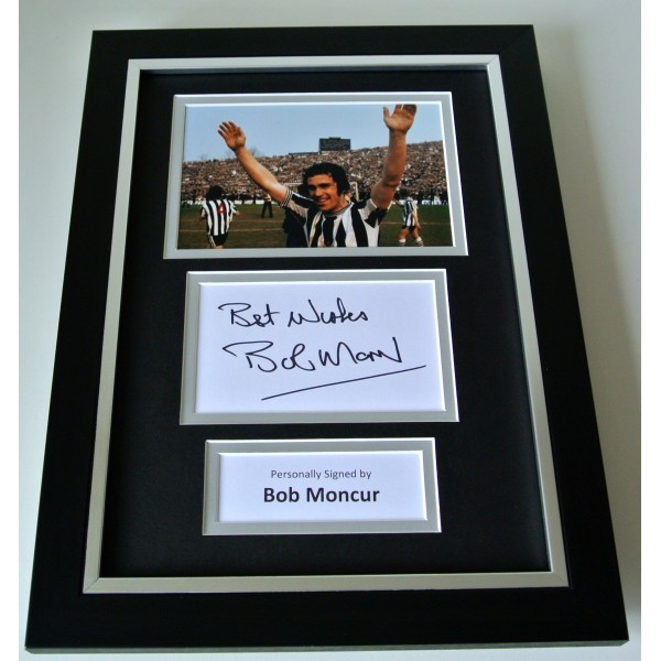 Bob Moncur SIGNED A4 FRAMED Photo Autograph Display Newcastle Utd Football & COA