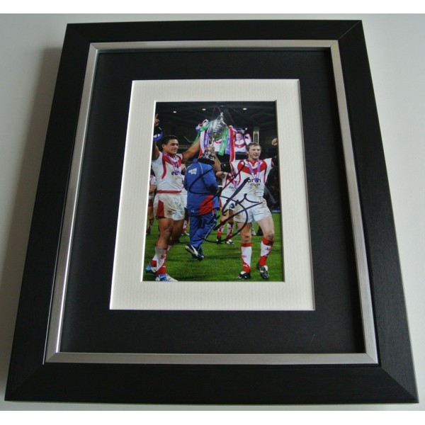 Sean Long SIGNED 10x8 FRAMED Photo mount Autograph Display St Helens Rugby COA    PERFECT GIFT