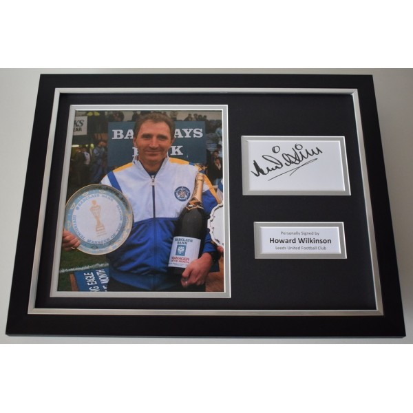 Howard Wilkinson SIGNED FRAMED Photo Autograph 16x12 display Leeds Football   AFTAL & COA Memorabilia PERFECT GIFT