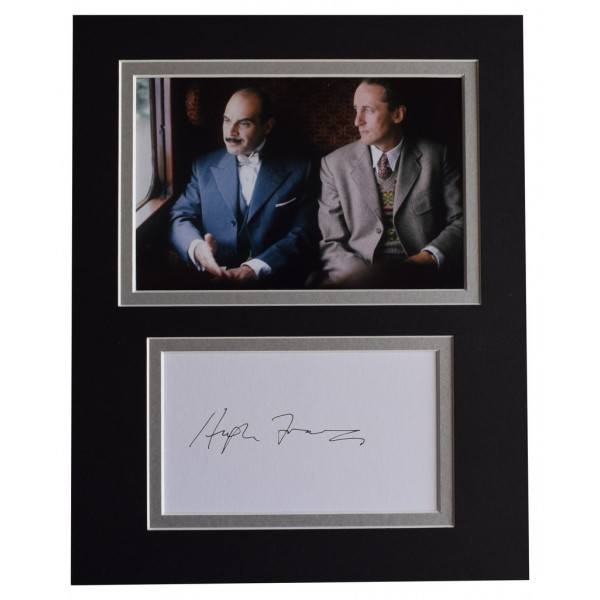 Hugh Fraser Signed Autograph 10x8 photo display TV Poirot Hastings  AFTAL  COA Memorabilia PERFECT GIFT