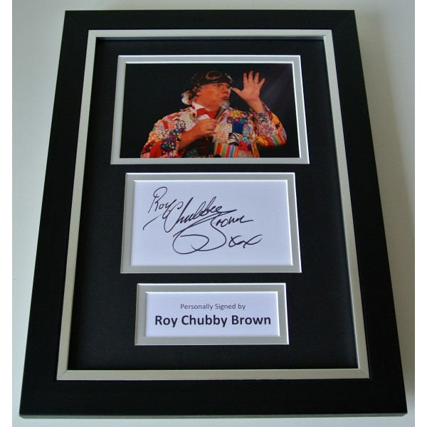 Roy Chubby Brown SIGNED A4 FRAMED Photo Mount Autograph Display Comedy & COA