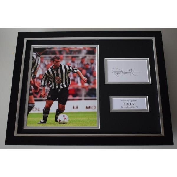 Rob Lee SIGNED FRAMED Photo Autograph 16x12 display Newcastle Football   AFTAL & COA Memorabilia PERFECT GIFT