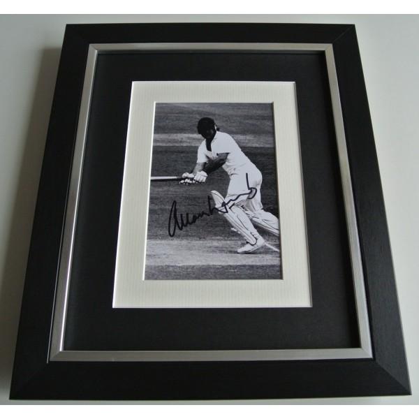 Allan Lamb SIGNED 10x8 FRAMED Photo Mount Autograph Display Cricket AFTAL & COA  PERFECT GIFT