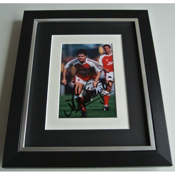 Anders Limpar SIGNED 10x8 FRAMED Photo Mount Autograph Display Arsenal AFTAL COA    PERFECT GIFT