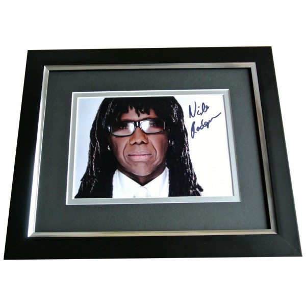 NILE RODGERS SIGNED 10X8 FRAMED Photo Autograph Display Music CHIC Le Freak COA PERFECT GIFT