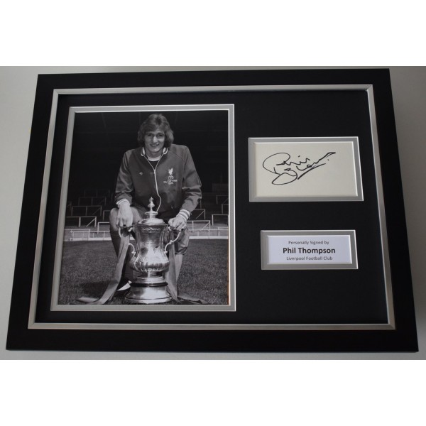 Phil Thompson SIGNED FRAMED Photo Autograph 16x12 display Liverpool  AFTAL & COA Memorabilia PERFECT GIFT