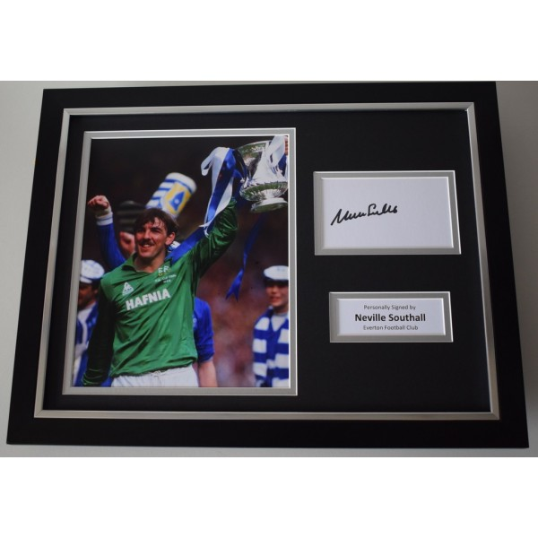 Neville Southall SIGNED FRAMED Photo Autograph 16x12 display Everton   AFTAL & COA Memorabilia PERFECT GIFT
