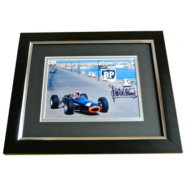 JACKIE STEWART SIGNED 10X8 FRAMED Photo Autograph Display FORMULA 1 Racing & COA PERFECT GIFT