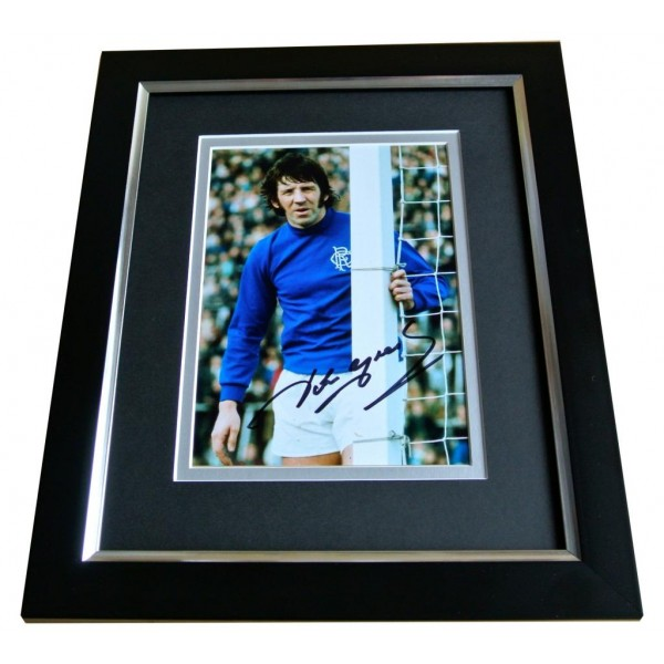 JOHN GREIG SIGNED 10X8 FRAMED Photo Autograph Display Glasgow Rangers PROOF COA PERFECT GIFT