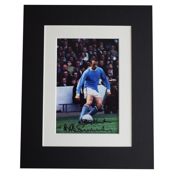 Mike Summerbee Signed Autograph 10x8 photo display Manchester City    AFTAL  COA Memorabilia PERFECT GIFT