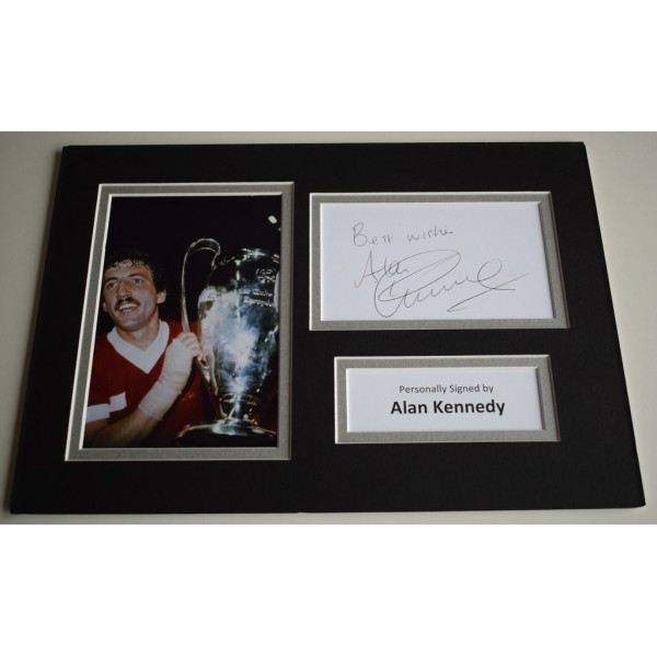 Alan Kennedy Signed Autograph A4 photo display Liverpool Football     AFTAL & COA Memorabilia PERFECT GIFT