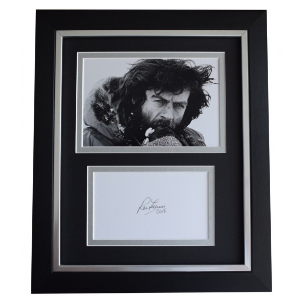Ranulph Fiennes SIGNED 10x8 FRAMED Photo Autograph Display Mount Everest  AFTAL  COA Memorabilia PERFECT GIFT