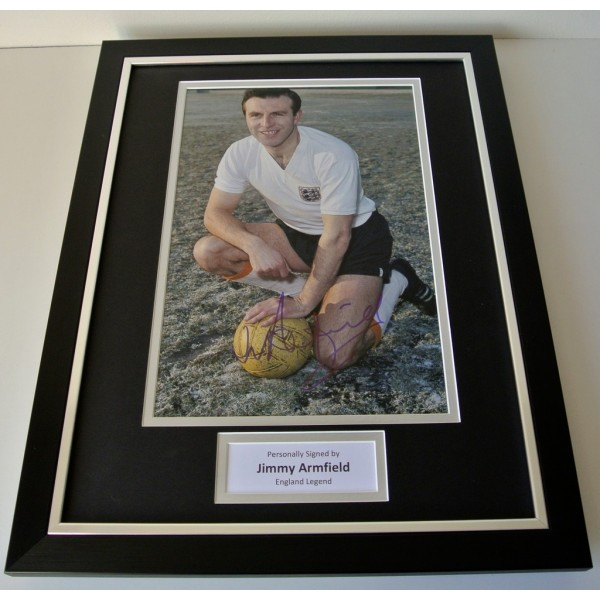 Jimmy Armfield SIGNED FRAMED Photo Autograph 16x12 display England Football COA
