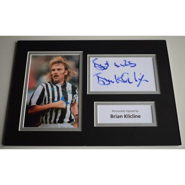 Brian Kilcline Signed Autograph A4 photo display Newcastle Football AFTAL & COA Memorabilia PERFECT GIFT