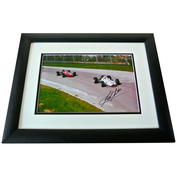 John Surtees SIGNED FRAMED Photo Autograph 16x12 LARGE display Formula 1 & COA  PERFECT GIFT