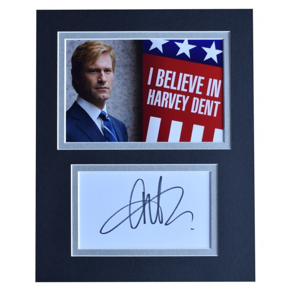 Aaron Eckhart Signed Autograph 10x8 photo display Batman Film   AFTAL  COA Memorabilia PERFECT GIFT