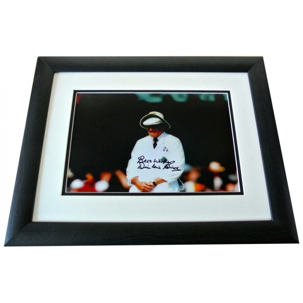 Dickie Bird SIGNED FRAMED Photo Autograph 16x12 HUGE display Cricket AFTAL & COA  PERFECT GIFT